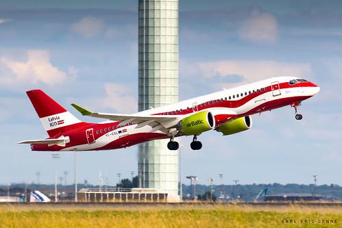 YL-CSL - Air Baltic A220-300   CDG