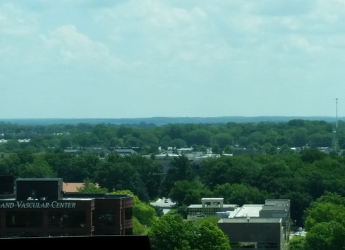 2019 landscape scenic coxhospital coxsouth springfieldmo springfieldmissouri missouri greenecounty ozarks view 9thfloor westtower wheelervascular building buildings hospital trees sky clouds outdoor midwest city queencity