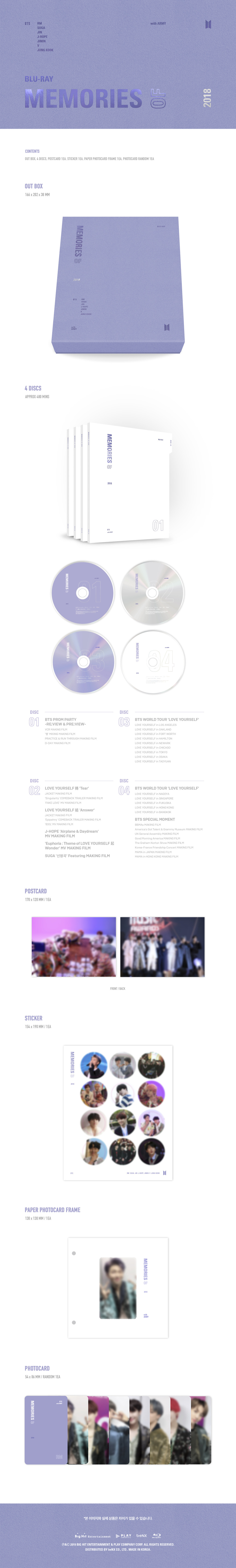 Info] BTS MEMORIES OF 2018 DVD+BLU-RAY