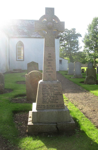 War Memorial, Oldhamstocks, Scottish Borders