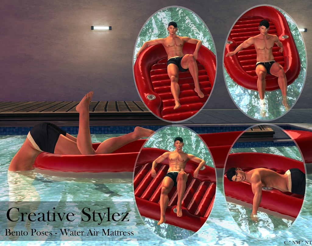 Creative Stylez – Bento Poses – Water Air Mattress –
