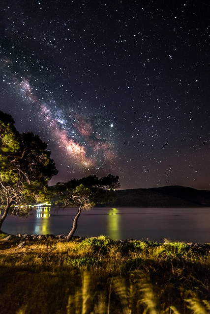 Milky Way rises over the sea