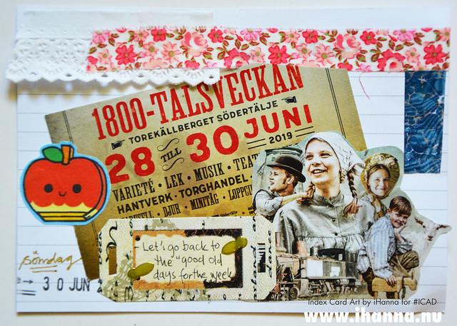 Index card art 1800talsveckan 2019-06-30 ICAD by iHanna