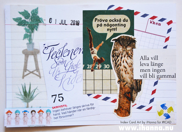 Index card art Aging and numbers 2019-07-01 ICAD by iHanna