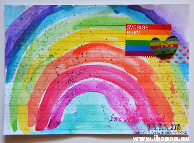 Index card art rainbow ICAD by iHanna #ICAD2019