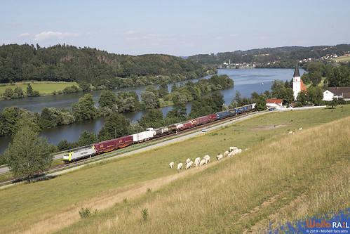 185 533 . Captrain .  Hausbach , Vilshofen am der Donau . 28.06.19.