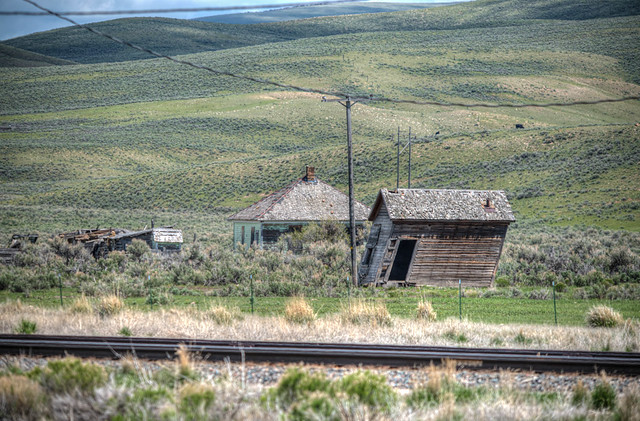 The ghost town of Sage, Wyoming