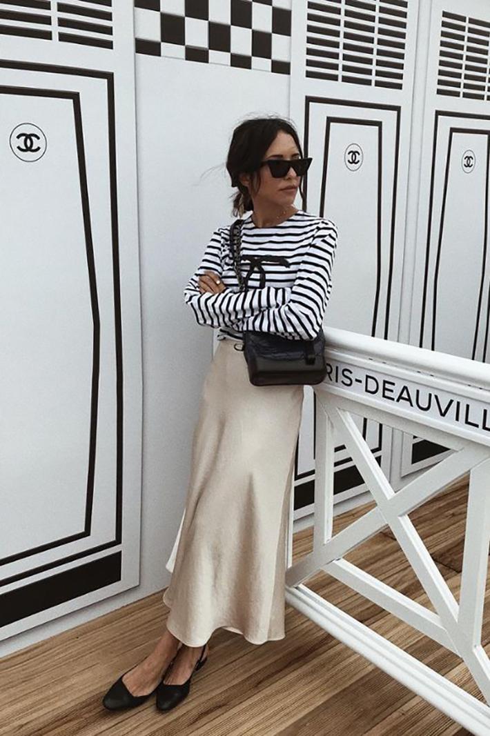 satin skirt street style summer trend 20194
