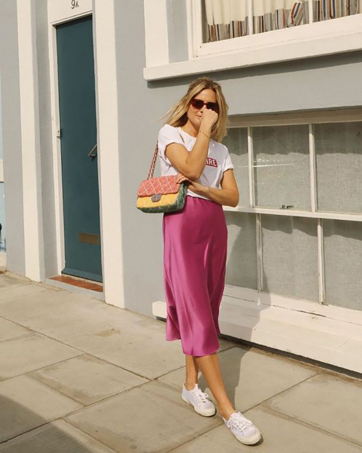 satin skirt street style summer trend 20193