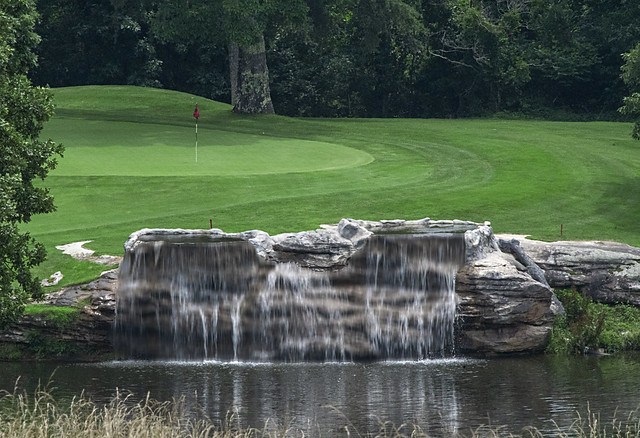 Golf Course Waterfall in Middle Tennessee