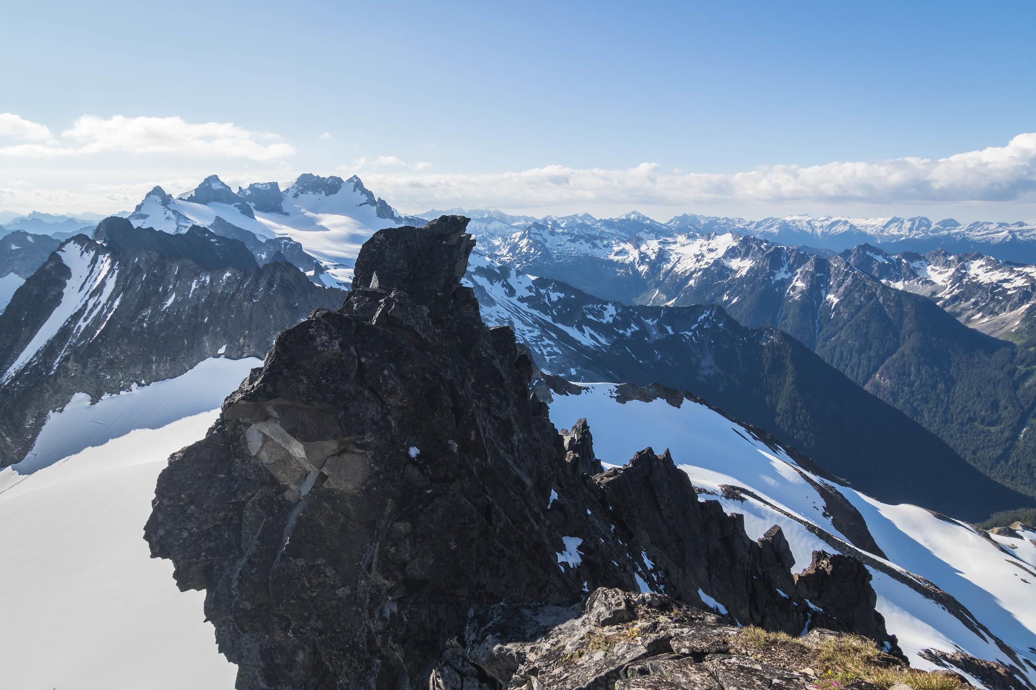 On southeast ridge