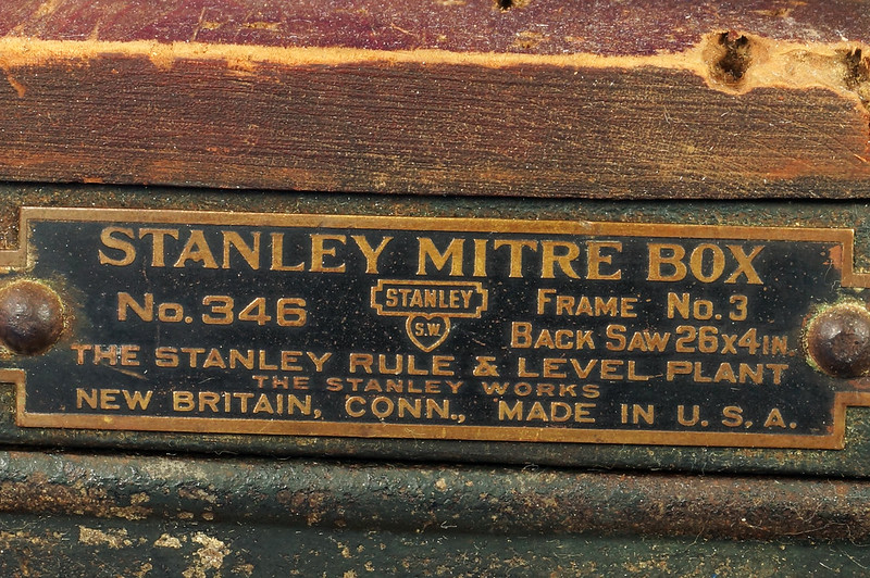 RD17205 Antique 1912 Stanley S.W. Sweetheart Miter Box No. 346 Frame No. 3 DSC01089