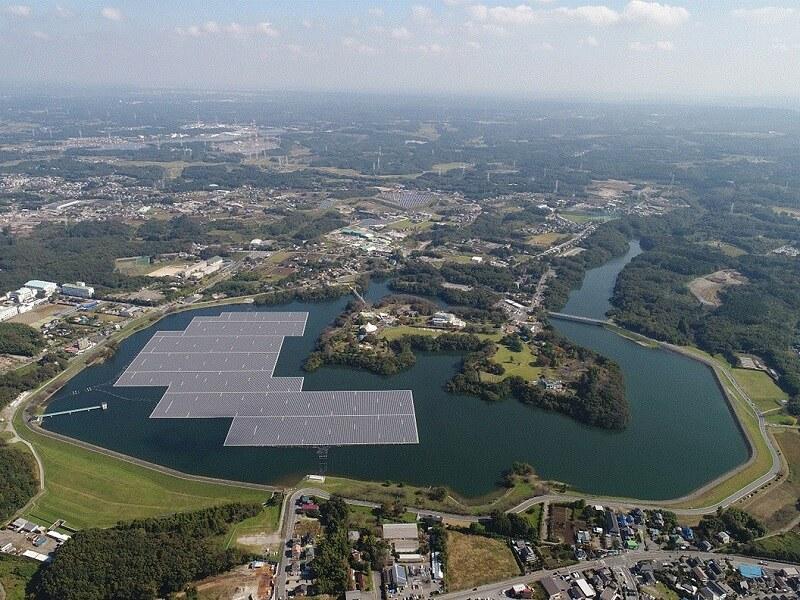 千葉・山倉水上太陽能發電所。