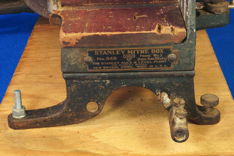 RD17205 Antique 1912 Stanley S.W. Sweetheart Miter Box No. 346 Frame No. 3 DSC01087