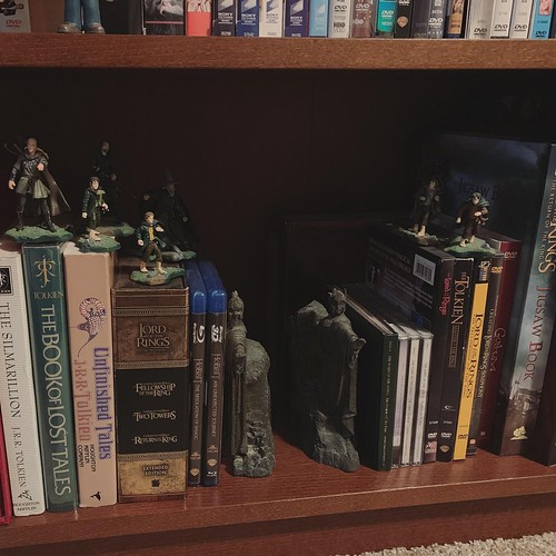dvd/blu-ray collection: Lord of the Rings shelf
