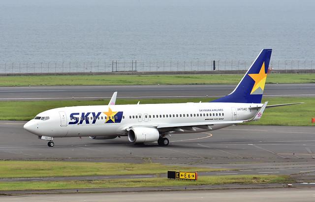 Skymark Airlines, JA73AC, Boeing 737-8AL at HND