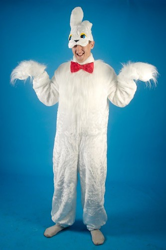 Мужской карнавальный костюм Белый заяц
