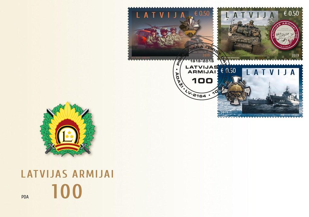 Aploksne Nacionālajiem bruņotajiem spēkiem 100 - Latvijas Pasts - Flickr