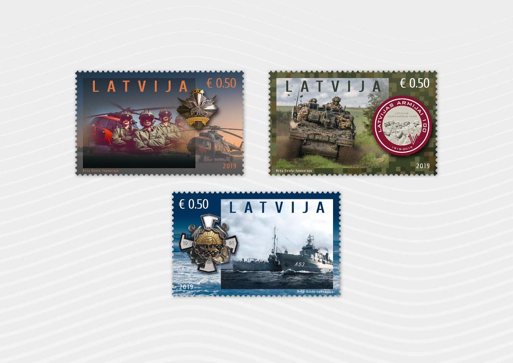 Pastmarkas Latvijas armijai 100 - Latvijas Pasts - Flickr