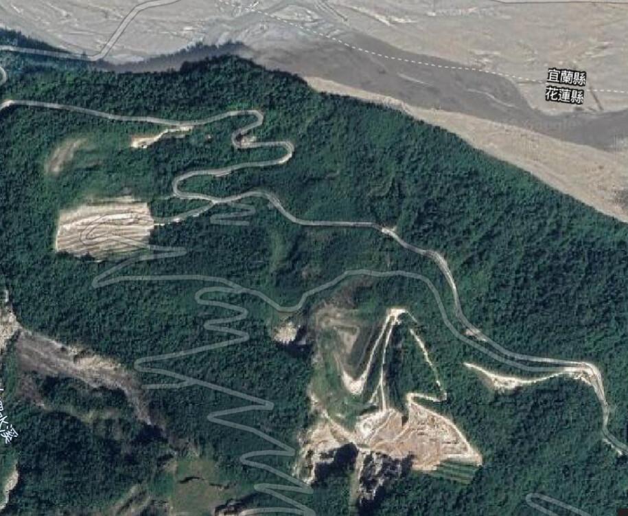 玉昌工礦花蓮縣秀林鄉和平礦區衛星影像圖