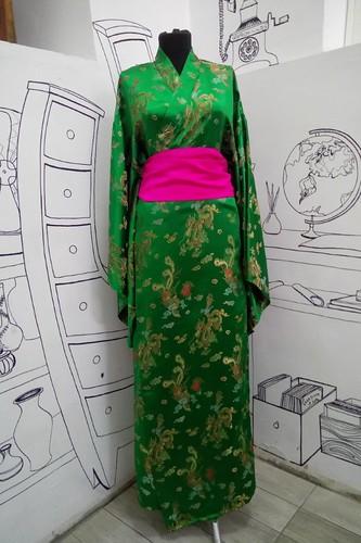 Женский карнавальный костюм Кимоно атласное
