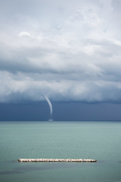 Not so distance waterspout