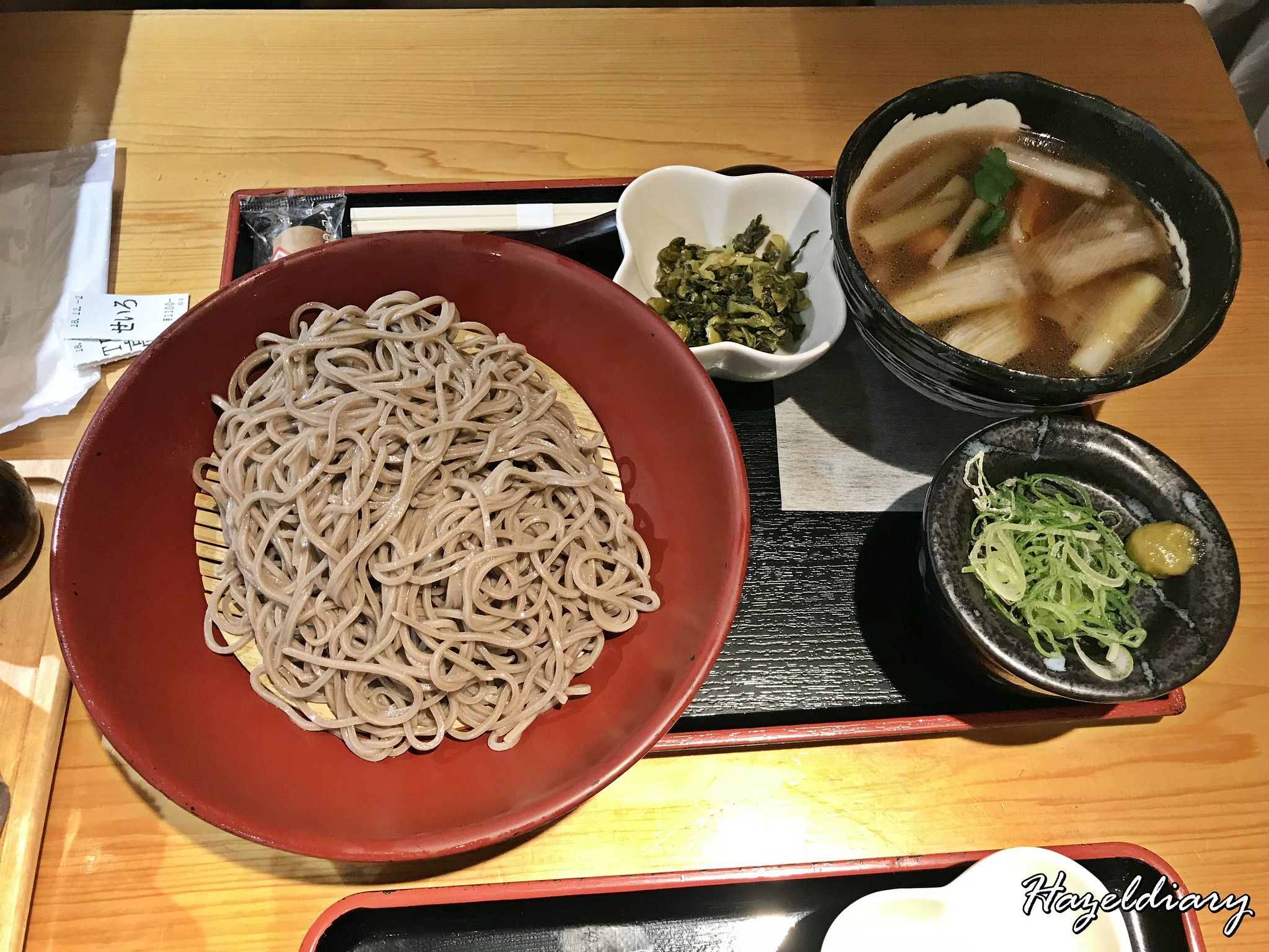 Tamejiro Tokyo Station-Chilled Soba with Duck Dipping Sauce