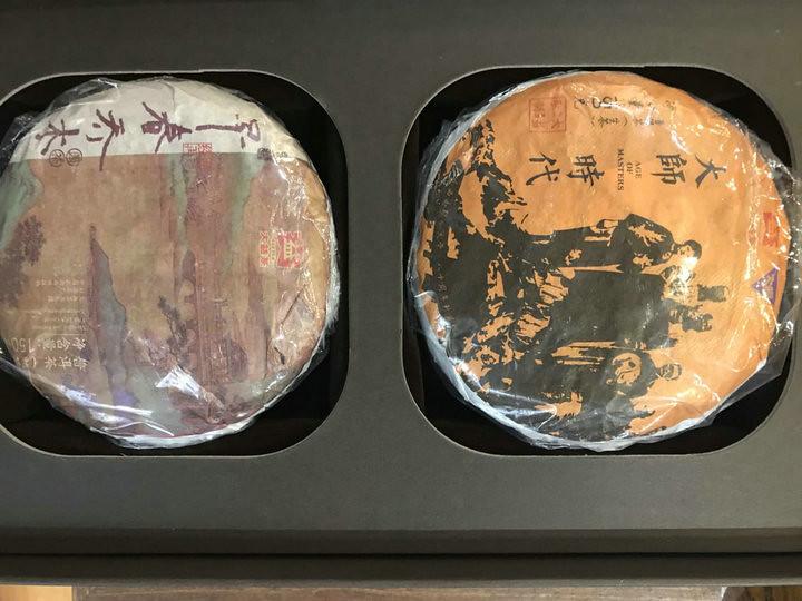 """2019 Dayi """"Da Shi Bao He"""" (DaShi ShiDai 150g Raw Sheng Cha+ ZaoChun QiaoMu 150g Ripe Shou Cha) Puerh Tea"""