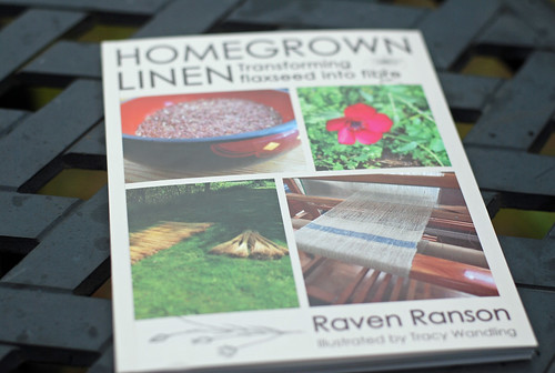 Homegrown Linen book by Raven Ranson pictured by irieknit