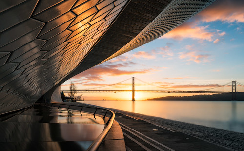 maat museum architecture building lisbon portugal europe travel sightseeing famous landmark sunrise tejo ocean atlantic atlanticocean