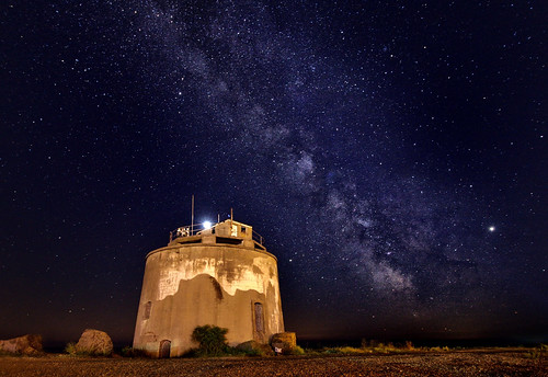 Martello Tower No 66 under the Milky Way