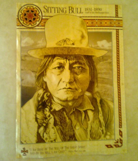 Sitting Bull Poster At Bru's