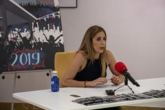 La concejala Beatriz Gamiz, en la presentación del programa de actividades de los Santiagos 2019.