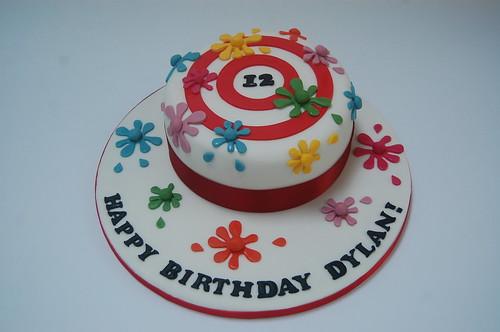Groovy Paintball Splat Cake Beautiful Birthday Cakes Birthday Cards Printable Giouspongecafe Filternl