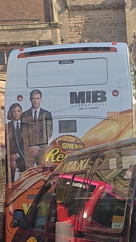 MIB International and Reeses Pieces on the no 47 bus at the Bullring