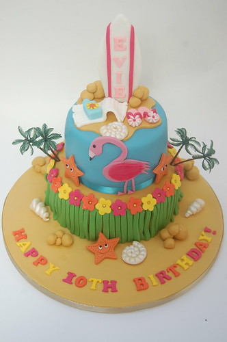 Amazing Tropical Beach Party Cake Beautiful Birthday Cakes Funny Birthday Cards Online Unhofree Goldxyz