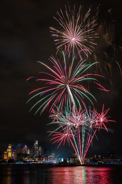 Fireworks on the Delaware