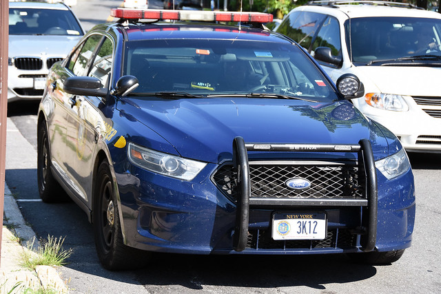 Picture Of New York State Trooper Car (3K12) - 2014 Or 2015 Ford Taurus Police Interceptor Sedan. This Picture Was Taken In Westchester County. This Car 3K12 Is From The Hawthorne New York Barracks In Westchester County. Photo Taken Wednesday July 3, 2019