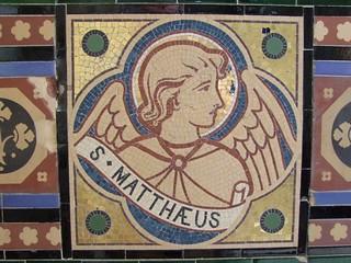 Woodwalton, Huntingdonshire, St Andrew, mosaic St Matthew