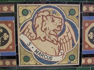 Woodwalton, Huntingdonshire, St Andrew, mosaic St Mark