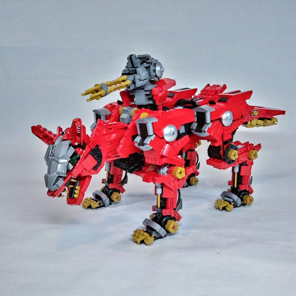 Zoids: Fire Fox (custom built Lego model)