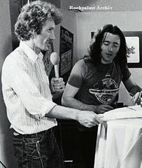 Rory Gallagher &  Albrecht Metzger ( Rockpalast moderator)