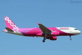 F-WWDT Airbus A320 Peach