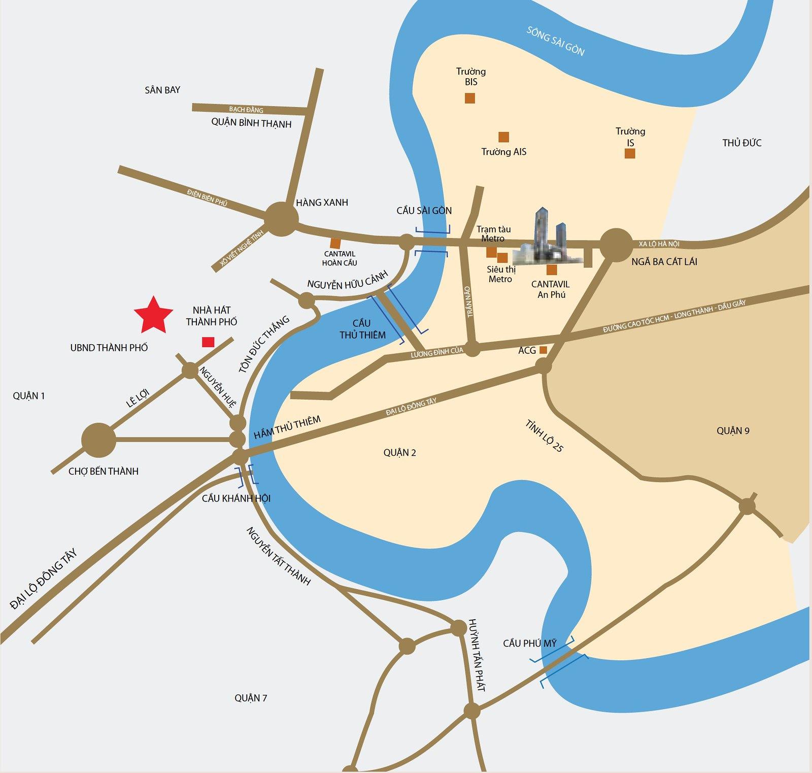 Nét độc đáo về vị trí của Cantavil An Phú quận 2