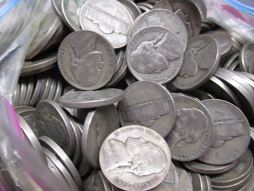 bag of silver U.S. War Nickels