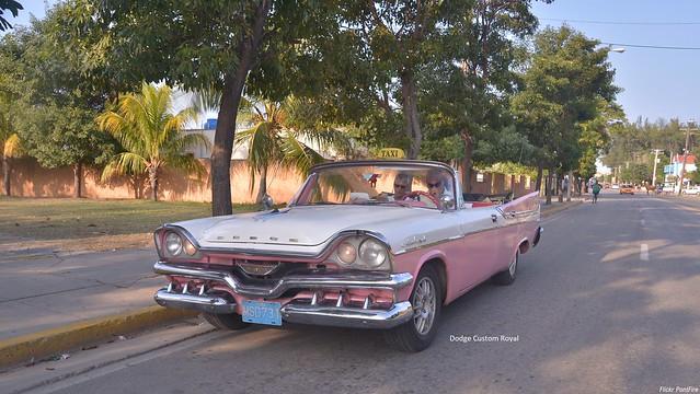 1958 Dodge Custom Royal convertible sedan Cuba