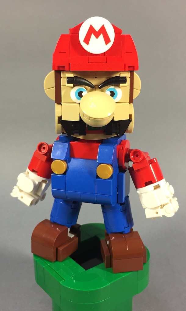 Mario (custom built Lego model)