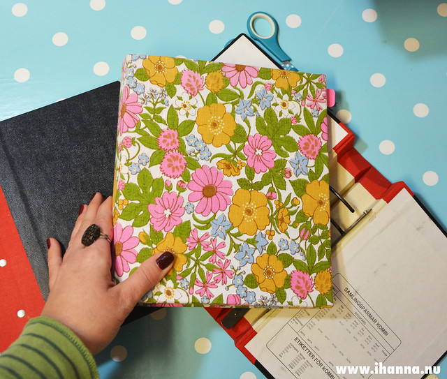 Fabric covered ring binder video tutorial