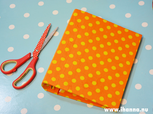 Fabric covered ring binder video tutorial by iHanna