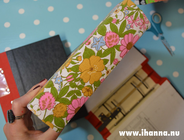 Fabric covered ring binder by iHanna
